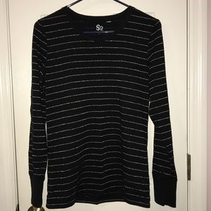 SO Black and Silver Long Sleeve Shirt